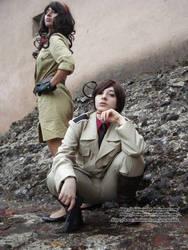 Romano and Fem.Romano - cosplay by ChibiMisa94