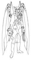Steampunk Hawk-Girl by Joe-Singleton