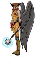 Hawkgirl redesign by Joe-Singleton
