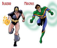 Blazar and Magnus by Joe-Singleton