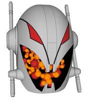 Ultron head by Joe-Singleton