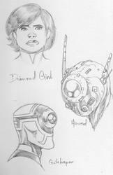 Headshot sketches by Joe-Singleton