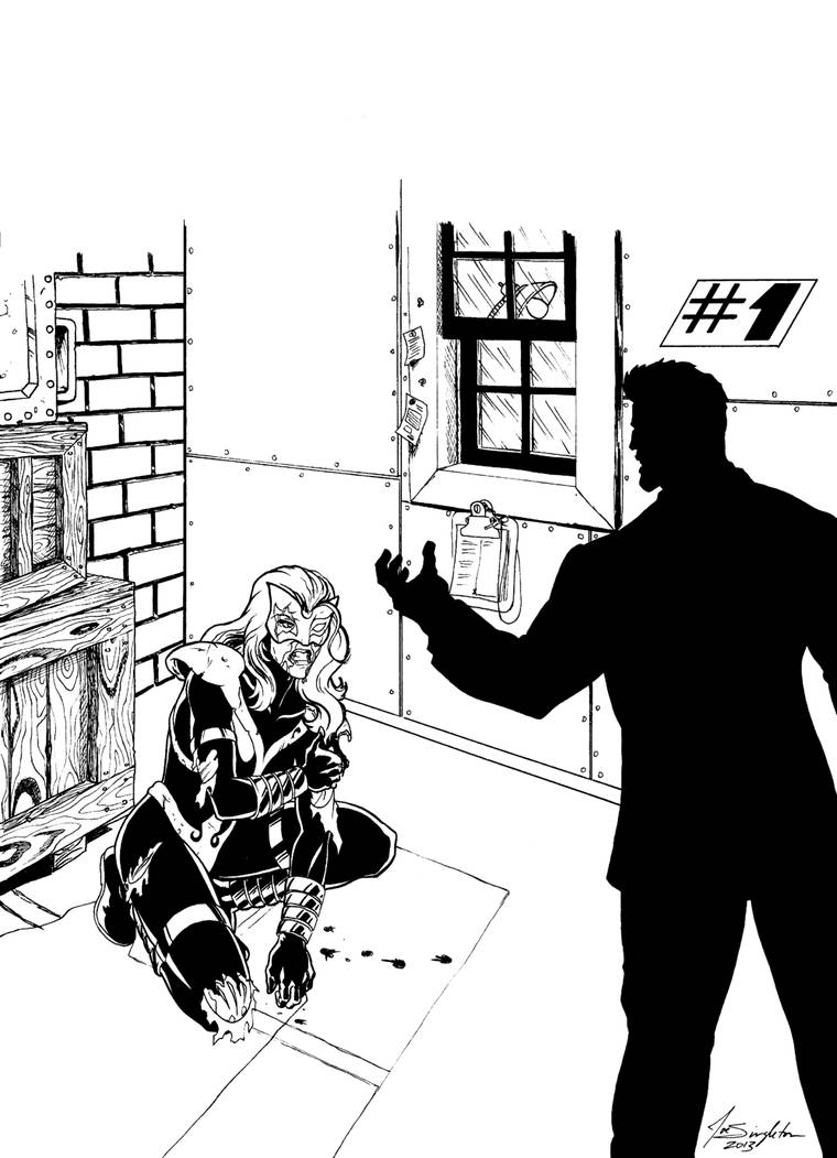 Cover Commission black and white. by Joe-Singleton
