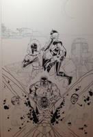 Nova and Firestorm Team-Up by Joe-Singleton