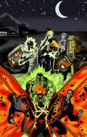 Super-hero Team-Up by Joe-Singleton