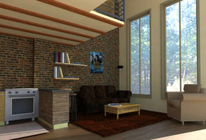 Studio Loft - Living Room by NadaBenghazi