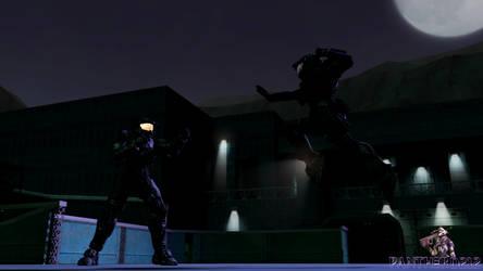 [SFM/Halo/RvB] Raine-B312 vs Agent Texas by Panther-D212