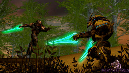 [SFM/Halo]Commish: Ontom vs Marshal Rank Sangheili by Panther-D212