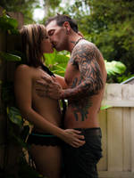 Backyard Kiss by GeheimnisBild