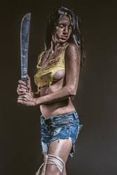 Zombie Hunter Pin-up by GeheimnisBild