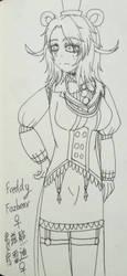 Female! Freddy Fazbear by BeverageLassieLaddie