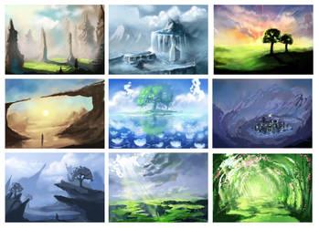 Landscape Practice by Chibionpu