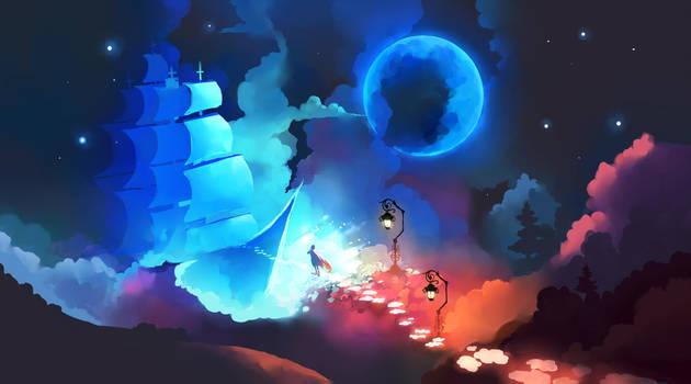 To the Night Sky by Chibionpu