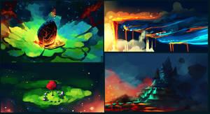 Color practice by Chibionpu