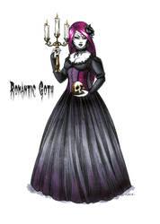 Goth stereotype #3: Romantic Goth by HellgaProtiv