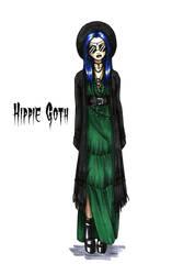 Goth stereotype #5: Hippie Goth by HellgaProtiv