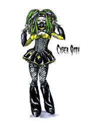 Goth stereotype #8: Cyber Goth by HellgaProtiv