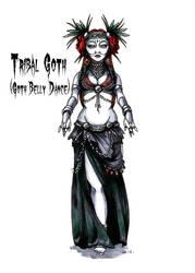 Goth stereotype #10: Tribal Goth by HellgaProtiv