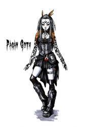Goth stereotype #11: Pagan Goth by HellgaProtiv