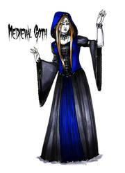 Goth stereotype #13: Medieval Goth by HellgaProtiv
