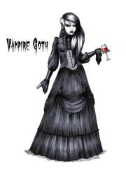Goth stereotype #14: Vampire Goth by HellgaProtiv
