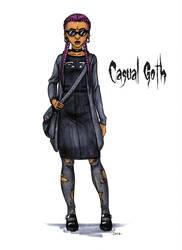 Goth stereotype #19: Casual Goth by HellgaProtiv