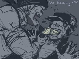 NO SMOKING by Nix-Nought-Nothing