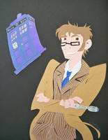Paper Cutout Tenth Doctor by McMitters