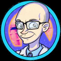 Derpy Kleiner avatar doodle by Theta-Xi