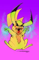 Evil Pickachu by davidfaught