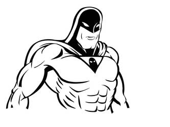 Space Ghost ink WIP by yomark