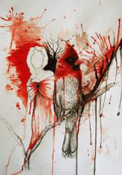 Red Cardinal by MelpomenesMask