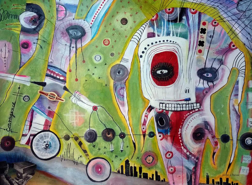 Outsider art: Chaos by bugatha1