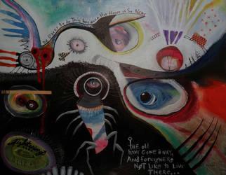 Outsider Art Painting: Arkham by bugatha1