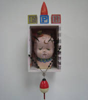 MeatCircus BabyHead Assemblage by bugatha1