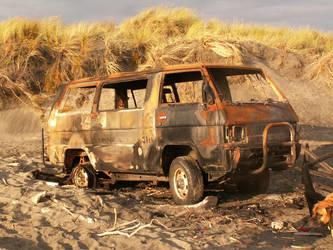 Burnt Van by Denita