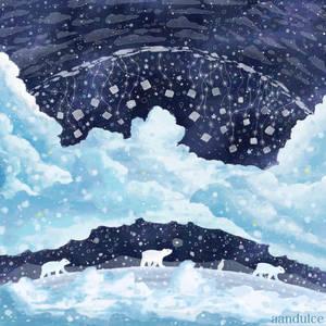 Life in snow by AAndulce