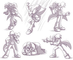 Dr. Wily sketches by glitcher