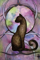 Watercolor Cat by linmh