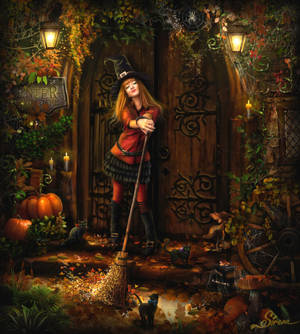 Witches autumn by Sirena-Art