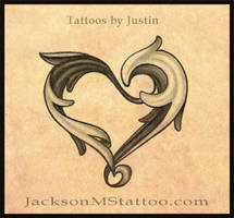 heart tattoo design by jacksonmstattoo