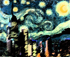 Modern Starry Night by Sehrafina
