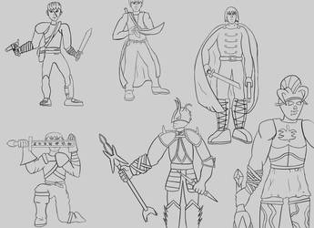 Some fantasy warriors by DarthHaven
