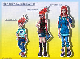 Rika Nonaka-Ruki Makino growing up by Kejlynda