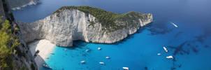 Shipwreck Bay Panoramic by ambaqua