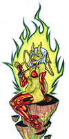Green Devil Girl by illustrated1