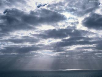 Cloudbank over Robben Island by ash