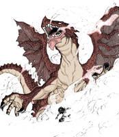dragon igneel and natsu by c-dream