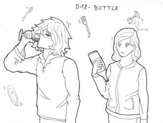 Inktober D18 - Bottle by ArwenAngelis