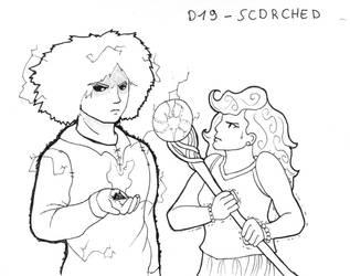 Inktober D19 - Scorched by ArwenAngelis